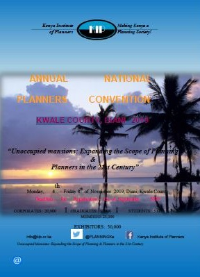 ANNUAL NATIONAL PLANNERS CONVENTION – DIANI – KWALE COUNTY, 2019